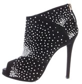 Roger Vivier Beaded Suede Ankle Boots