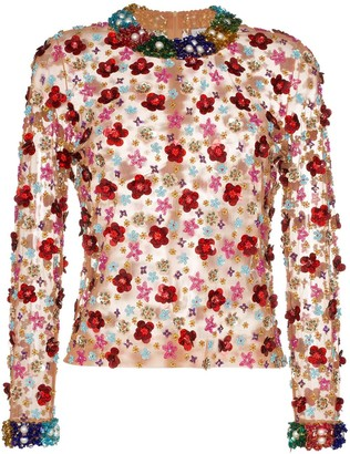 Ashish Beaded Floral Top