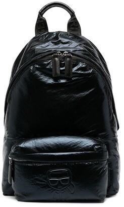 Karl Lagerfeld Paris K/Ikonik metallic backpack