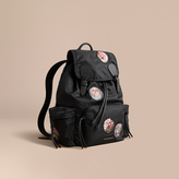 Burberry The Large Rucksack in Technical Nylon with Pallas Heads Appliqué