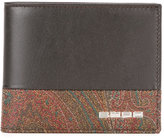 Etro printed bi-fold wallet - men - Cotton/Calf Leather/Polyester/PVC - One Size