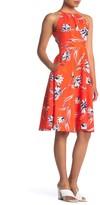 Eliza J Floral Halter Midi Dress (Petite)