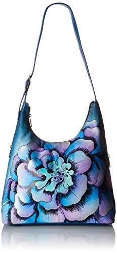 Anuschka Anna by Genuine Leather Hobo Bag | Hand-Painted Original Artwork |