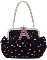 ATTICO The Embellished velvet clutch
