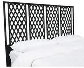 David Francis Furniture Casablanca Open-Frame Headboard Size: King, Color: Black