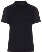 Vince Contrast-panel Cotton-blend Polo Shirt