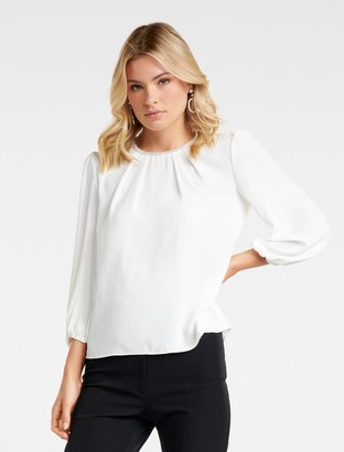 Ever New Megan Jewel Neckline Blouse