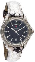 Michele Snakeskin Diamond Watch