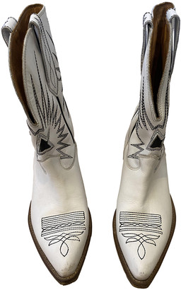 Golden Goose White Leather Boots