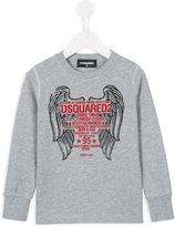 DSQUARED2 wings print sweatshirt