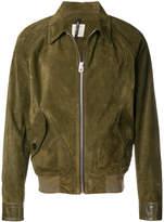 Santoni zipped leather jacket