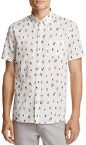 Michael Bastian Cactus Print Regular Fit Button Down Shirt