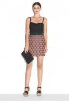 Milly Geometric Jacquard Modest Mini Skirt