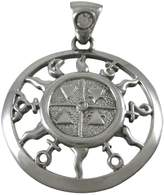 Things2Die4 Beautiful Silvertone Universal Collective Pendant New Age