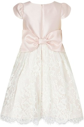 Monsoon Girls Duchess Twill Lace Bridesmaid Dress - Pink