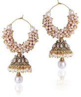 Traditional Bollywood Stylish Pearl Jhumka Earrings for Women & Girls By VVS Jewellers