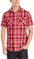 Akademiks Men's Tom Plaid Button Down Shirt