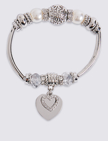 M&S Collection Heart Sparkle Bracelet