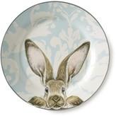 Damask Bunny Dinner Plates, Set of 4