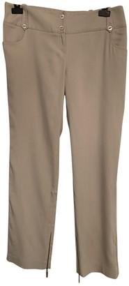 Christian Dior Beige Silk Trousers