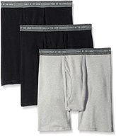 Fruit of the Loom Men's Everyday Active Black Gray Boxer Brief(Pack of 3)