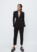 Haider Ackermann berkeley black cut out blazer