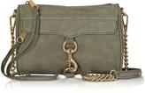 Rebecca Minkoff Olive Green Nubuck Mini M.A.C. Crossbody Bag