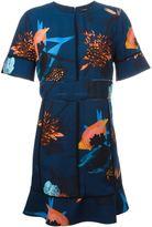 Proenza Schouler floral shortsleeved dress