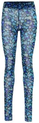 Ganni Floral mesh tights