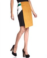Colorblock Wrap Skirt