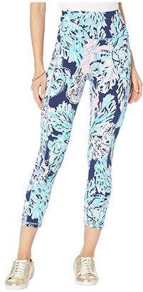 Lilly Pulitzer UPF 50+ High-Rise Leggings (High Tide Navy Party in Paradise) Women's Casual Pants