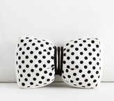 Pottery Barn Kids The Emily & Meritt Black & White Dot Bow Pillow