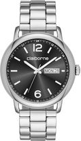 Claiborne Mens Silver-Tone Strap Watch