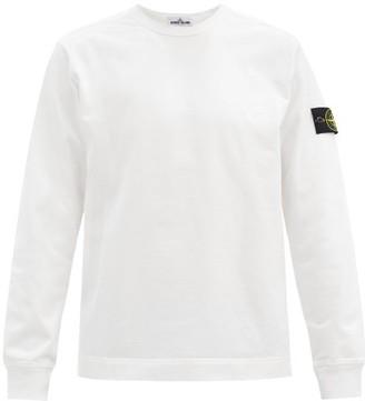 Stone Island Logo-patch Cotton Sweater - White