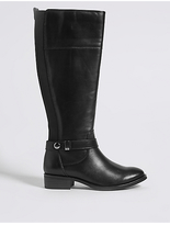 M&S Collection Leather Block Heel Rider Knee High Boots