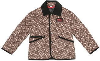 BURBERRY KIDS Monogram quilted jacket