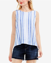 Vince Camuto TWO by Striped Lace-Up Top