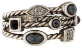 David Yurman Hematite, Onyx & Diamond Confetti Ring