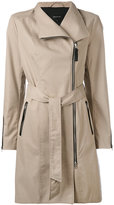Mackage zipped coat - women - Cotton/Leather/Polyester - S