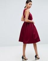 Asos Debutante Crop Top Midi Scuba Dress