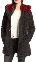 BLANKNYC Denim Attention Span Faux Fur Trim Jacket
