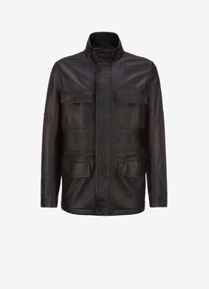 Bally Leather Car Coat