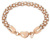Betsey Johnson Confetti Rose Goldtone Magnetic Bracelet