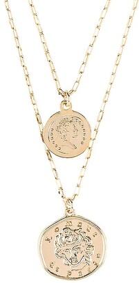 Natalie B x REVOLVE Lomour Double Coin Necklace