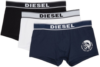 Diesel Three-Pack Multicolor UMBX Shawn Boxer Briefs