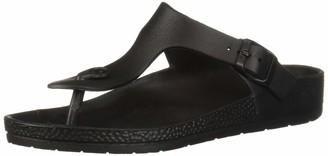 Seven Dials Women's CADELLA Flat Sandal Black/eva 10 Medium US