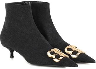 Balenciaga BB denim ankle boots