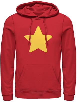 Fifth Sun Men's Sweatshirts and Hoodies RED - Steven Universe Red Star Hoodie - Men