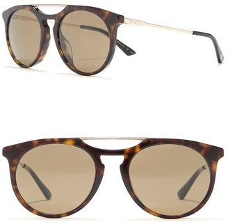 Gucci 53mm Round Sunglasses
