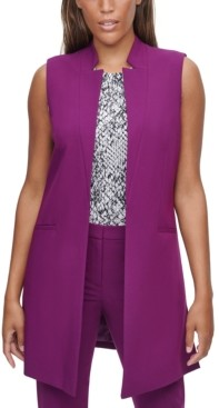 Calvin Klein Long Notched-Collar Vest